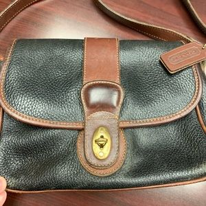 Vintage Coach leather saddle bag